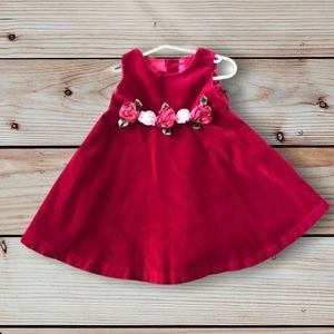 Children's Place Girls Red dress with bloomers